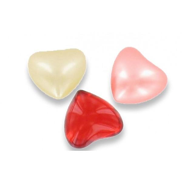 Perle de bain coeur rouge parfum fraise