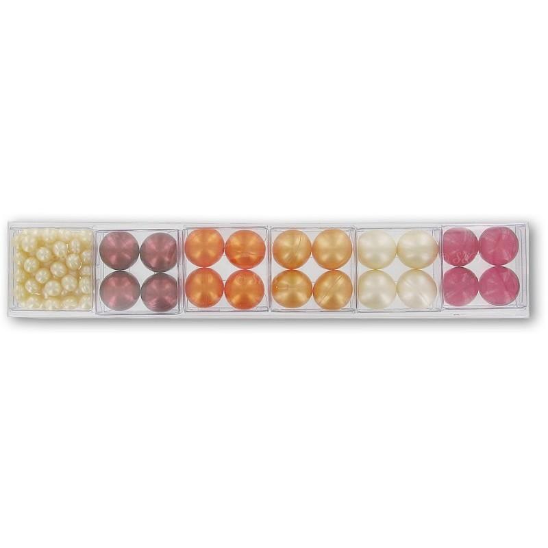 FRUITS: Lot de 4 boîtes de 12 perles d'huile de bain