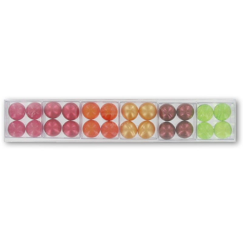 Assortiment de 6 petites boîtes de perles de bain - FRUITS